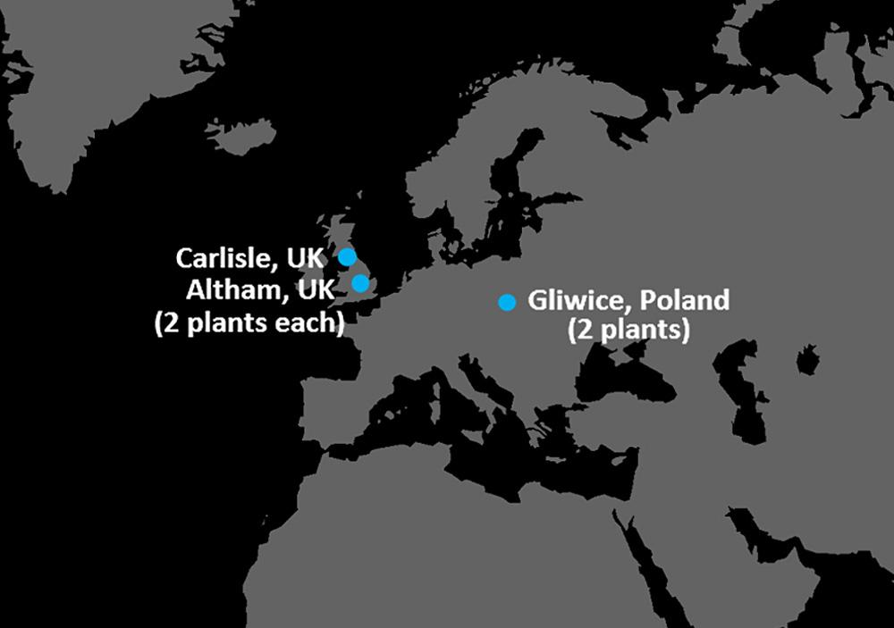 Stolle Europe locations map