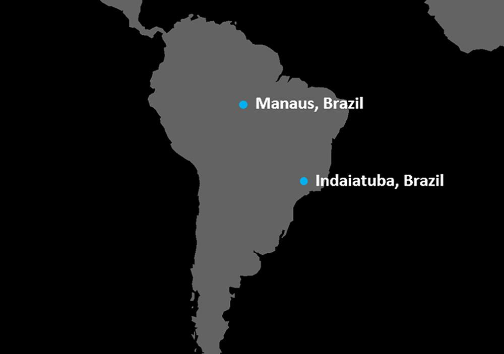 Stolle South America locations map